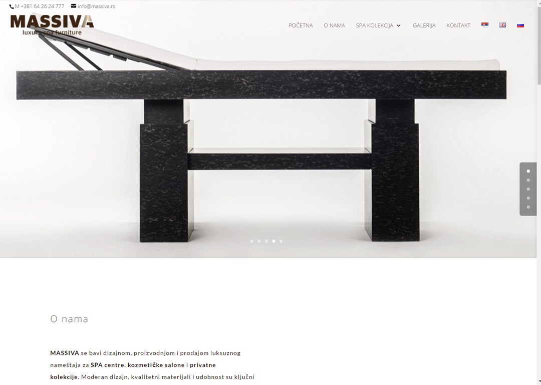 Izrada sajta – massiva luxury spa furniture