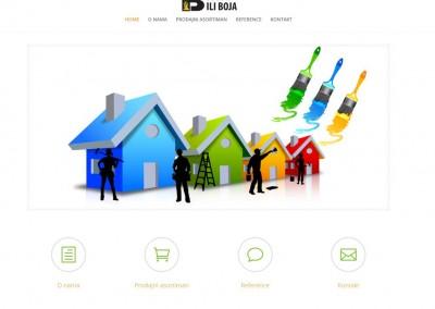 Izrada sajta za prodavnicu boja i lakova – Ili boja