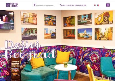 Izrada sajta za CUBA Hostel