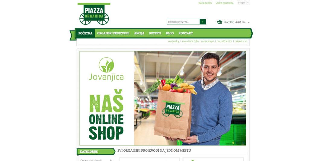 Izrada web prodavnice Piazza-organica